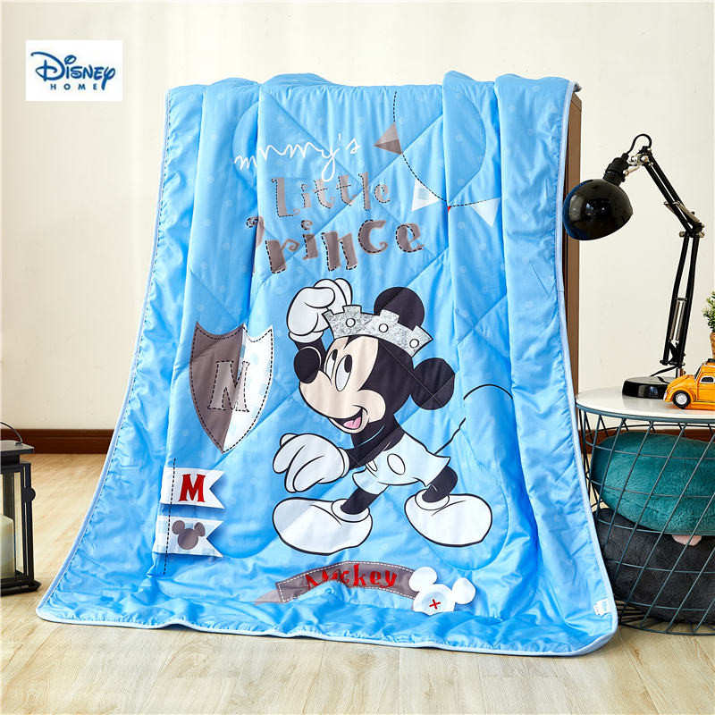 Bleu mickey mouse mince couette disney 3d dessin animé été couette coton couverture enfant garçon chambre décor doux couverture fille couvre-lit