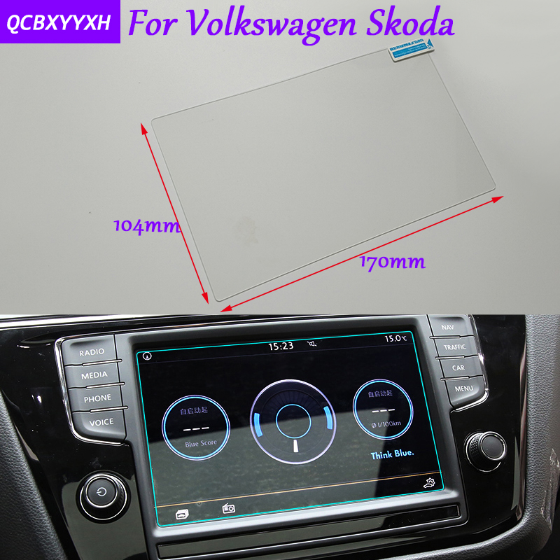 Car Styling GPS Navigation Screen Glass Protective Film For VW Golf Polo Tiguan Touran Touareg CC Jetta Skoda Superb Octavia