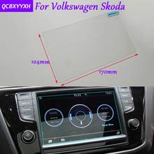 Car Styling GPS Navigation Screen Glass Protective Film Sticker For Volkswagen Golf Polo Tiguan Touran CC Skoda Superb Octavia