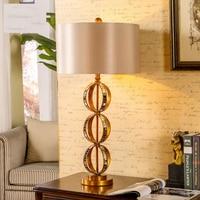 89cm Luxury Retro Country Table Lamp 110V 220V Simple Atmospheric Bedroom Bedside Lamp Golden Glass Decoration Lamp Abajur Led