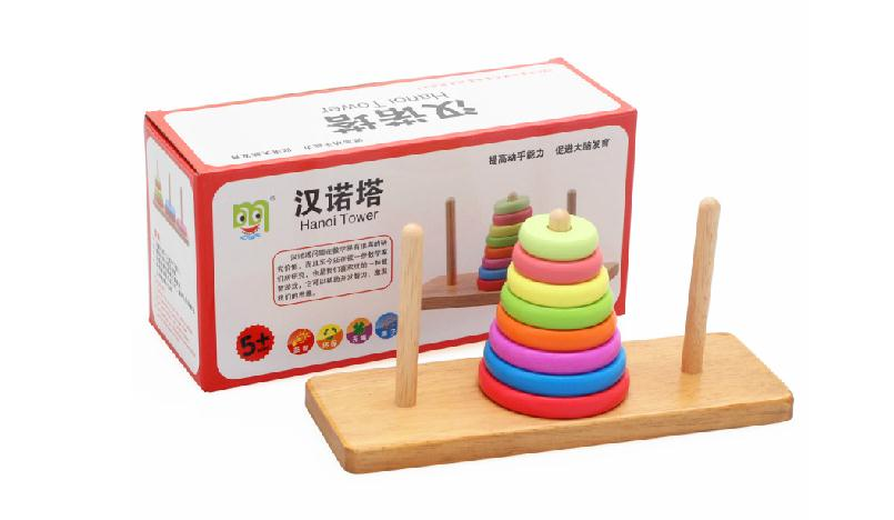 Clássico De Madeira crianças Hanoi Torre jogos Infantil educação - Brinquedos para crianças