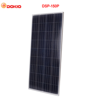 DOKIO Brand 150W 18 Volt Solar Panel China + 10A 12/24 Volt 150 Watt Solar Panels Cell/Module/System Charger/Battery