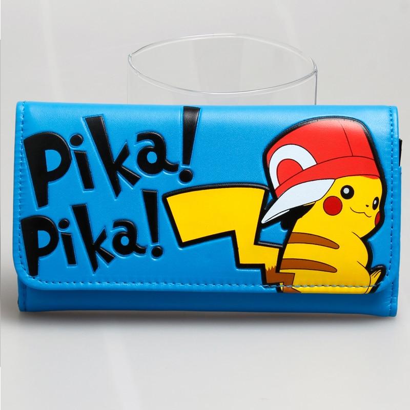 pokemon women Blue long wallet pika DFT 1801