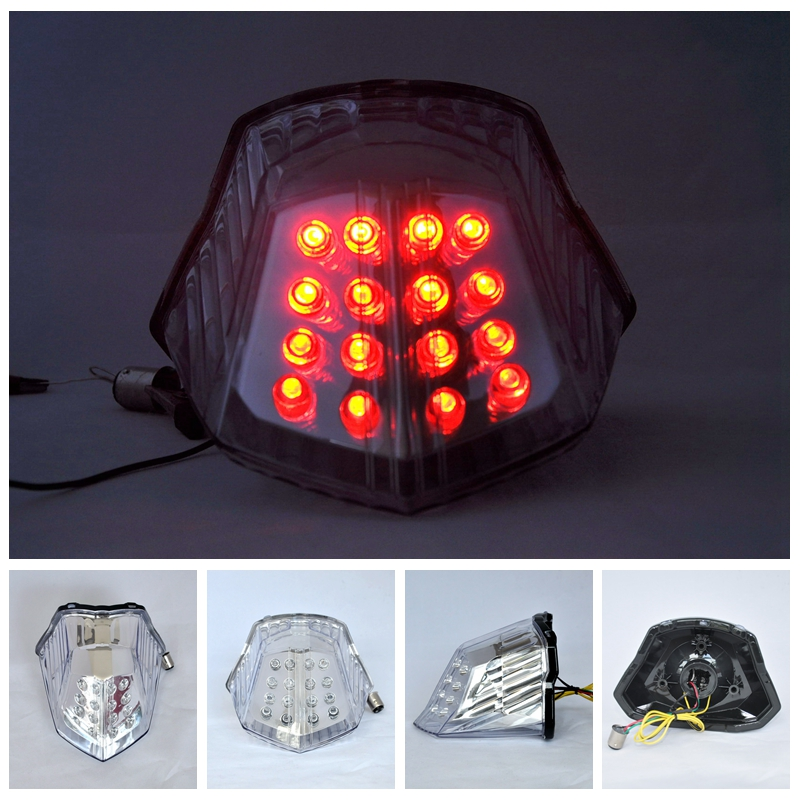 Led Motorcycle Rear Tail Light Brake Turn Signal Integrated  For YAMAHA  XJ6 2009-2010-2011-2012-2013 FZ6  2009-2013