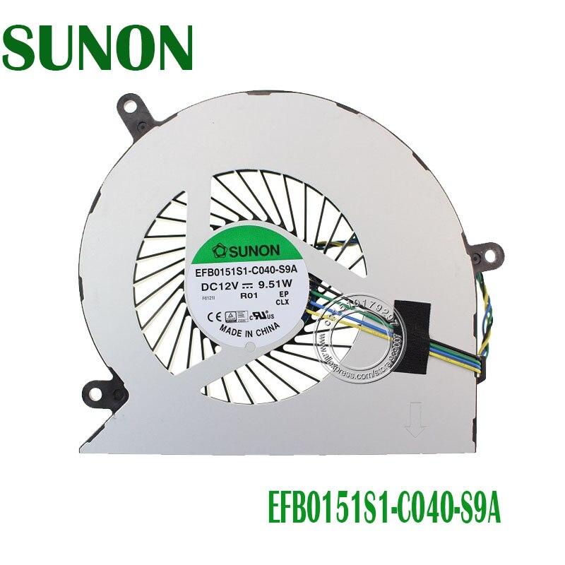 SUNON VENTILADOR PARA Lenovo Thinkcentre 023.10042.0011 M800Z All-in-One AiO Ventilador de Refrigeração P/N: 00XD814 EFB0151S1-C040-S9A BAAA1115R2U