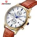 Longbo роскошный кожаный ремешок известных марок спортивный мужчины водонепроницаемый бизнес часы сверху кварцевые мужские часы платье 80061