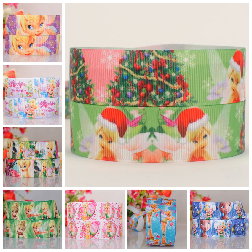 new 7/8  22 mm cartoon Golden hair princess ribbon pattern printed grosgrain tape ribbon free shipping