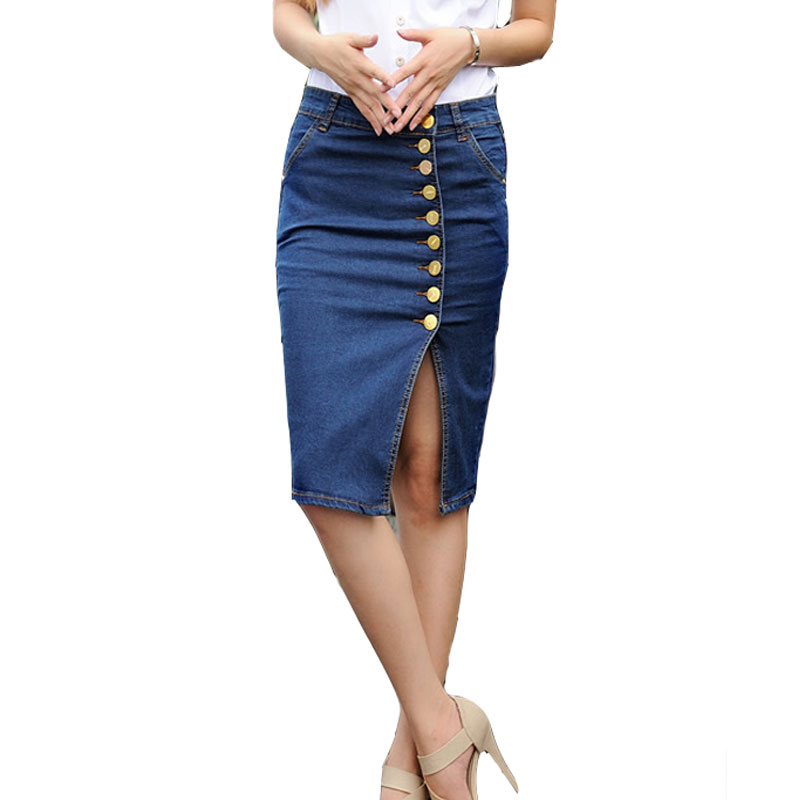 Popular Split Front Denim Skirt-Buy Cheap Split Front Denim Skirt ...
