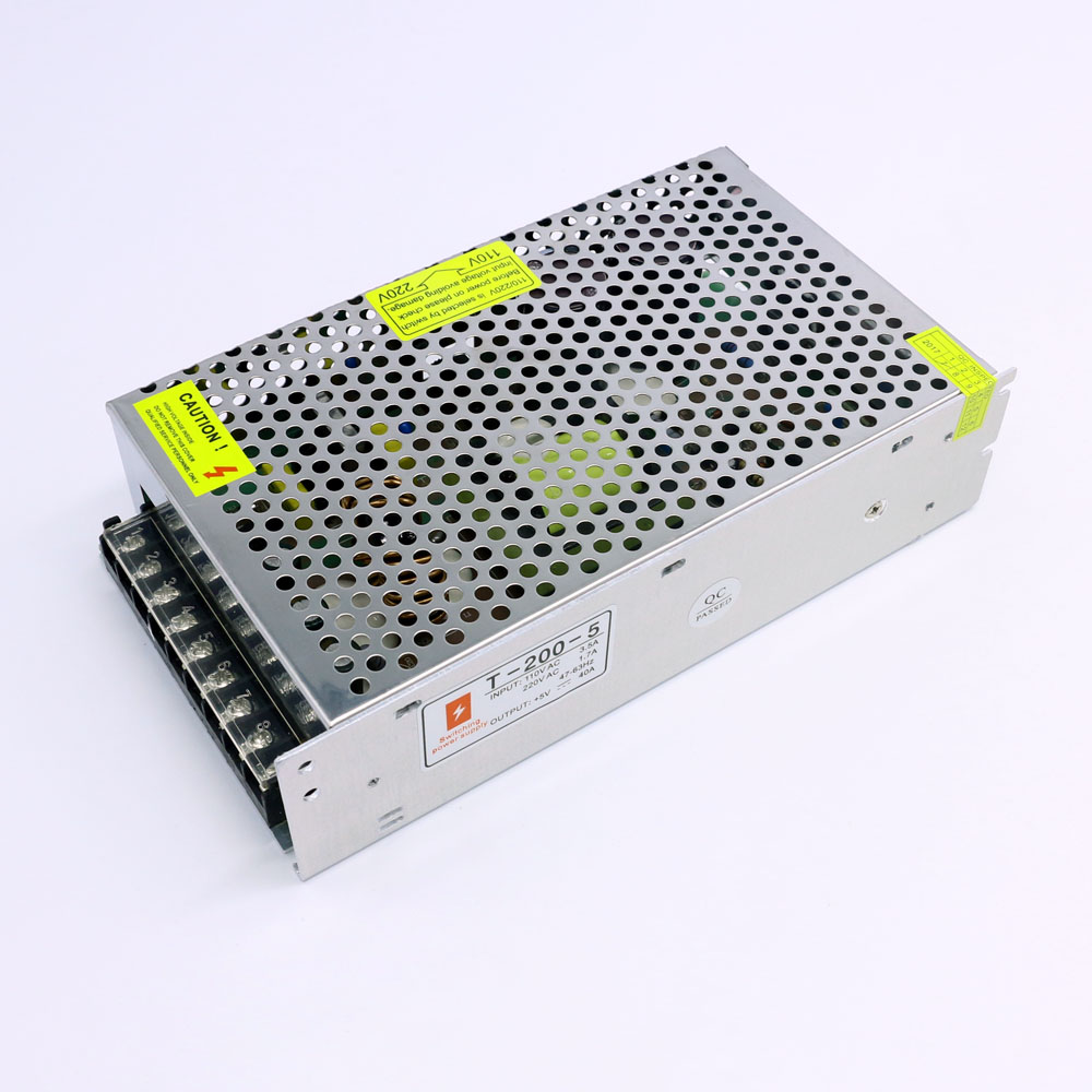 Led Display 5V 200W Switching Power Supply Input Ac 110V or 220V by Switch Control