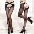 Bas medias sexy meia virilha aberta meias sexy meias arrastão meias de malha das mulheres do sexo feminino frete grátis
