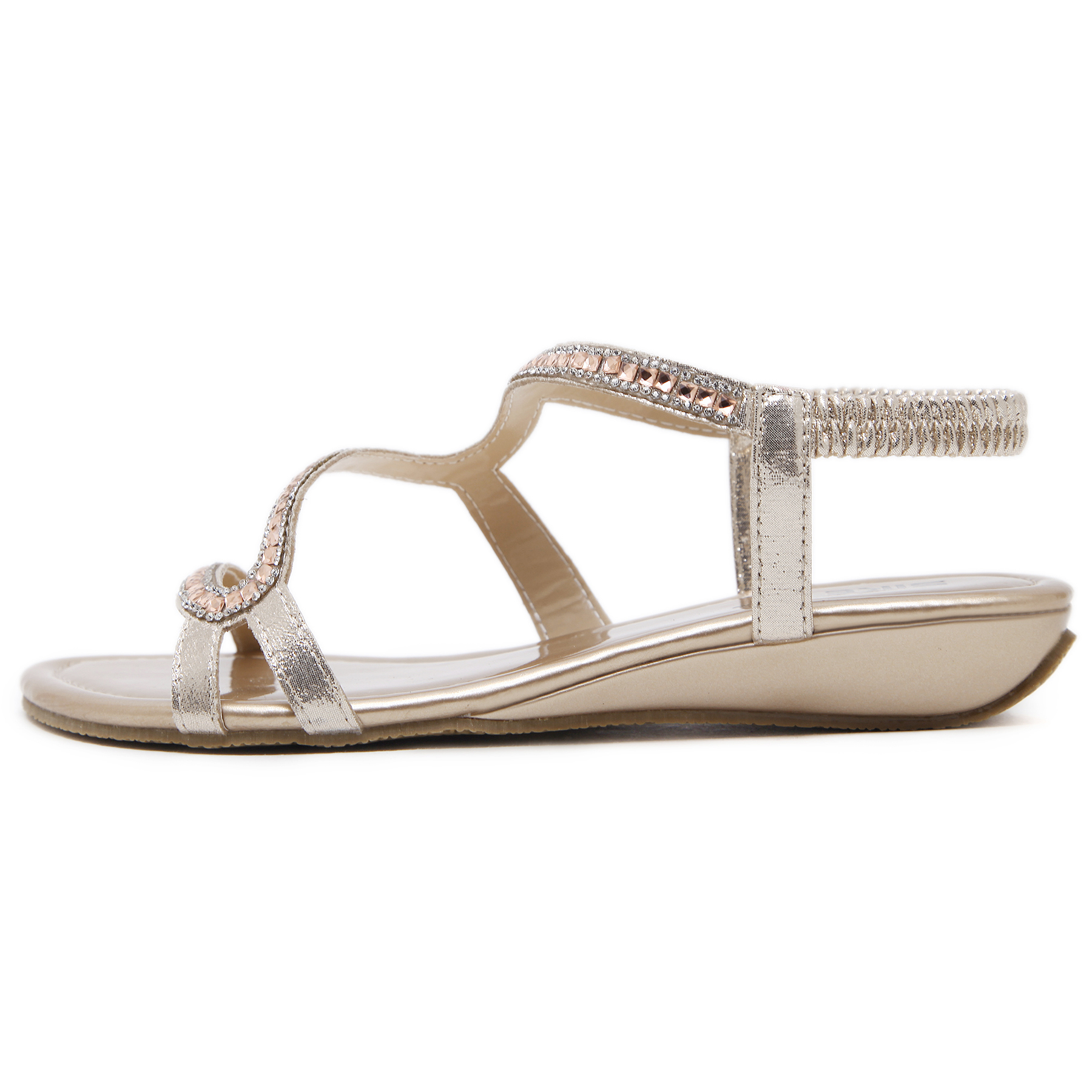3724c41e90ee52 SEKETU New Designer diamond design Female Summer Sandals Rhinestone Wedges  Fashion Large Size 35 42 Women Sandals-in Low Heels from Shoes on  Aliexpress.com ...
