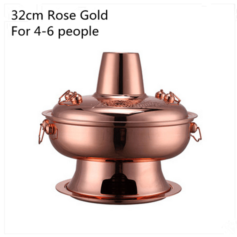 Traditional Carbon Burning Charcoal Hot Pot Thickened Hot Pot Furnace Boiler Stainless Steel Hot Pot Furnace For 6-9 People картридж epson black xp33 203 303 c13t17014a10