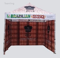 3*3m outdoor canopy sun shading 3 4 persons for outdoor business show for goods sellers, with product logos, made in china