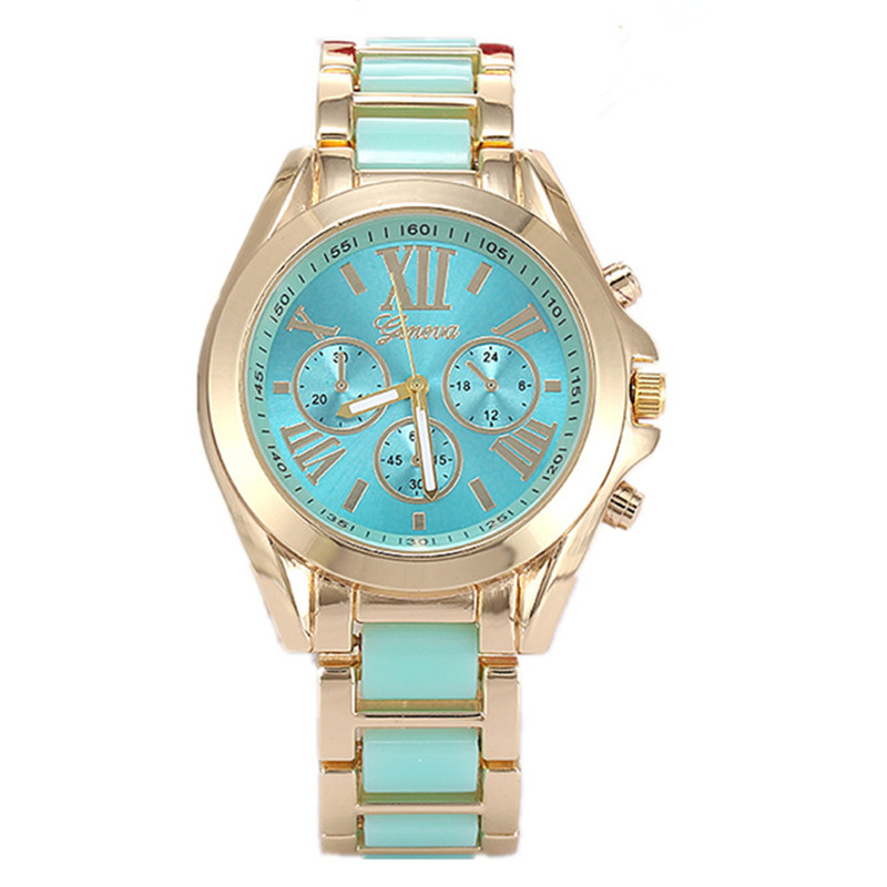 2016 new Geneva Ceramic Watch Women Dress Watch Gold Casual Wristwatches Clock hours Female Business Quartz Watch Relojes Mujer