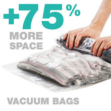 Hand Rolling Compression Vacuum Bag Clear Border Foldable Compressed Home Clothes Plastic Storage Organizer Seal Bags
