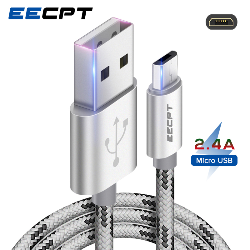 EECPT Micro <font><b>USB</b></font> Kabel Quick Charge Microusb Ladegerät Kabel für Samsung S7 S6 <font><b>Xiaomi</b></font> Redmi <font><b>4</b></font> Hinweis 5 Android Mobile telefon Draht Kabel image