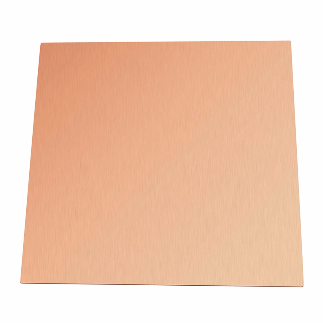 1Pcs 0.5mm Thickness 99.9% Pure Copper Cu Sheet Thin Metal Foil Sheet 100mmx100mm With Corrosion Resistance For Industry Tools