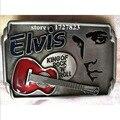 Элвис музыка гитара Металл серебряный музыка пряжки ремня уникальный Красный Ковбой Профессии поясная пряжка Западная Nos Turbo Tunning Розничная