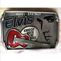 Elvis music guitar Metal silver music belt buckles unique Red Cowboy Profession belt buckle Western Turbo Nos Tunning Retail