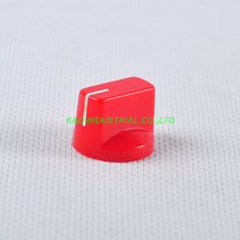 10pcs Colorful Red Rotary Volume Control Plastic Potentiometer Knob Knurled Shaft Hole