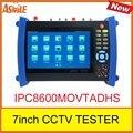 """Novo produto 7 """"polegadas touch-screen câmera IP cctv tester IPC8600MOVTADHS ip tester a partir de asmile"""