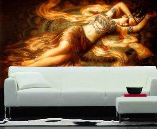 Подробнее о Ktv large fashion oil painting photo wallpaper personalized mural wallpaper living room background wall paper ktv