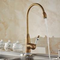 Antique Bronze Kitchen Mixer Tap With Ceramic Crane Hot And Cold Kitchen Water Mixers Brass Sink Crane Kitchen Faucets