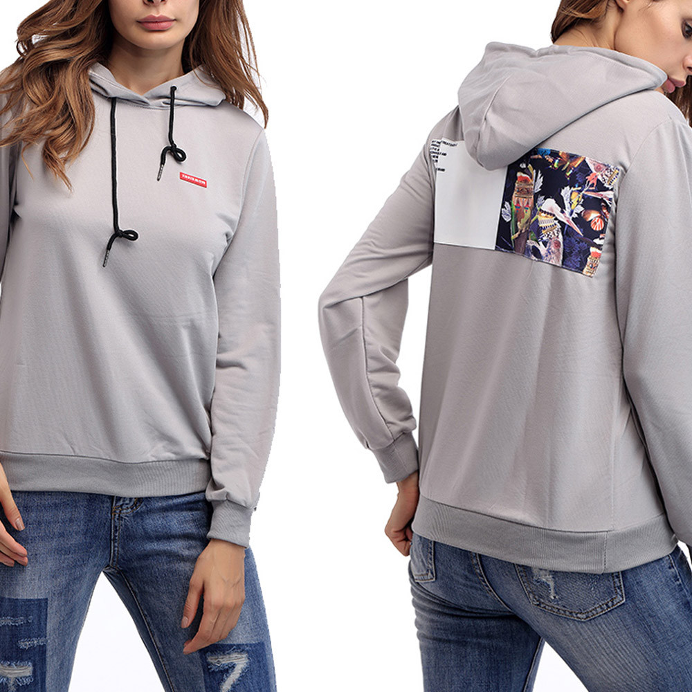 2018 Casual Sweatshirt women Autunm Trendy loose hoodies Blouse korean oversized hoodie moletom feminino com capuz AG 15
