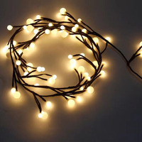 UL120 2.5M 72LED Branch Rattan White Ball LED String Fairy Light 8 Mode Christmas Garland For New Year Xmas Indoor Outdoor Home