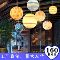 Nordic Creative Universe Planet Acrylic Pendant Light Moon Sun Earth Mars Uranus Mercury Jupiter Saturn Planet Lamps