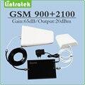 900 mhz 2100 mhz teléfono celular amplificador de señal 2g 3g gsm wcdma umts de doble banda repetidor de señal juego completo con antena exterior/interior
