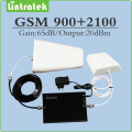 900mhz 2100mhz cellphone signal booster 2g 3g  gsm  wcdma umts dual band signal repeater full set  with outdoor/indoor antenna