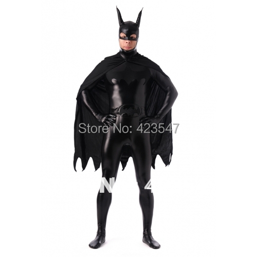 Black Metal Batman costume DC Comics Metallic Batman Superhero Costume Halloween Costumes