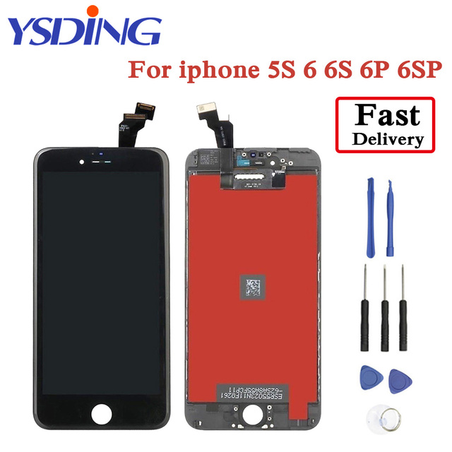 huge discount 1e6d9 cc6d0 US $19.59 |Original YSDING Lcd Display Screen For iPhone 6 6S 6 plus 6S  Plus LCD Touch Screen With Digitizer Replacement Assembly Parts-in Mobile  ...