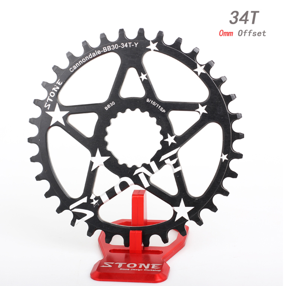 Stone MTB Bike Circle Single Chainring 0mm Offset Direct Mount For Cannon dale SI SL BB30