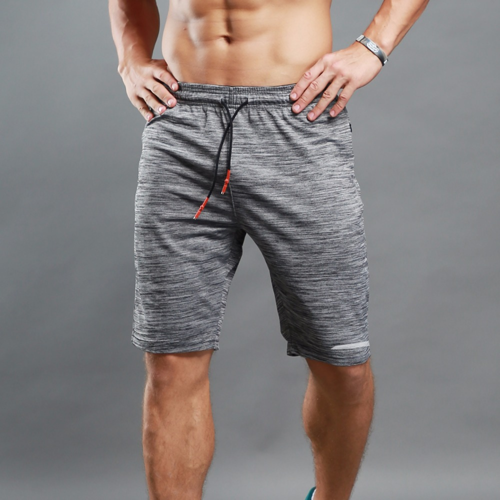 Man Summer Gray Short Pants Breathable Reflective Sports Running Shorts