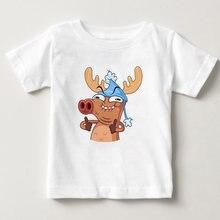 Детская футболка с принтом рождественского оленя для мальчиков