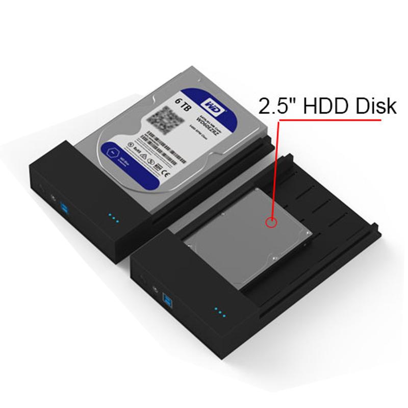 Prix pour 3 pcs haute vitesse USB 3.0 à sata disque dur cas pour 6 TB 2.5/3.5 pouce hdd ssd portable disque dur caddy boîtier livraison gratuite
