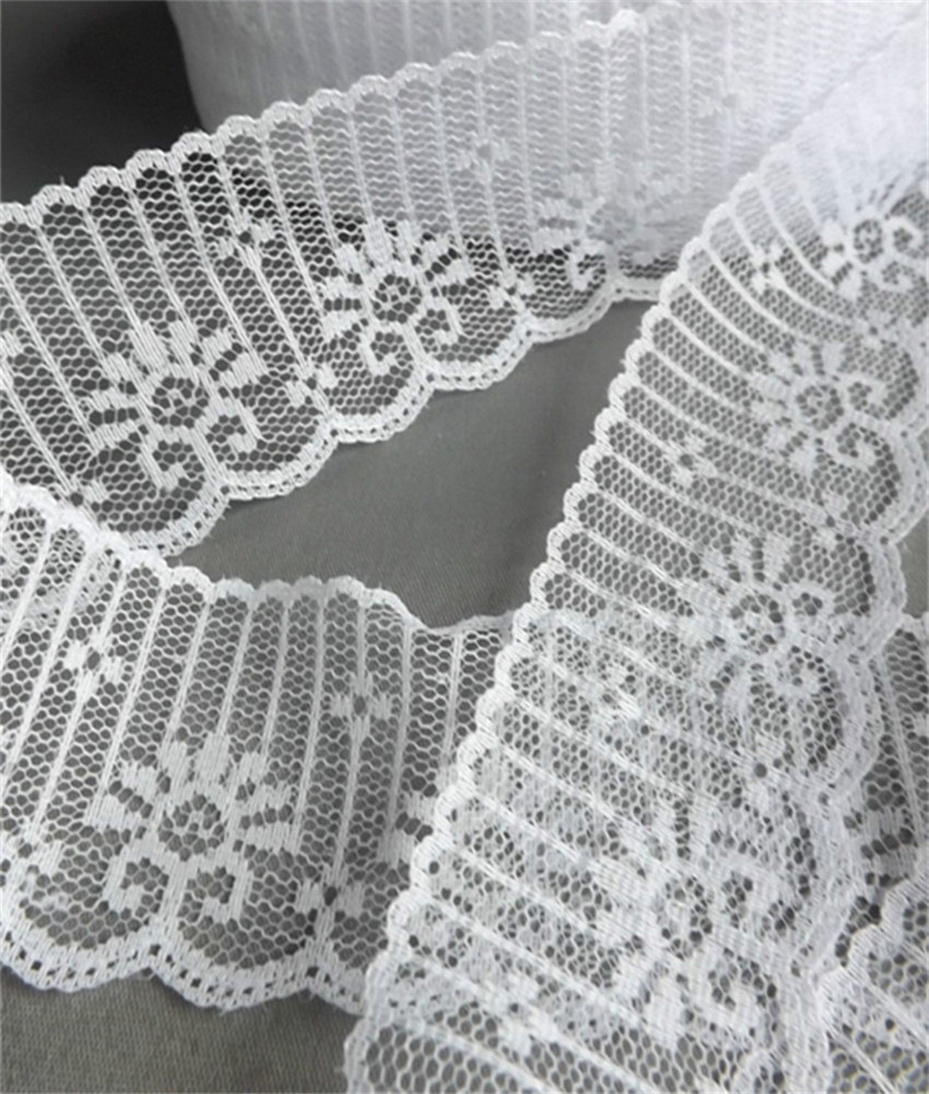 Width 48mm 14 yards 5 colors Embroidered Net Lace Trim fabric Garment ribbon headband wedding party