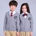 Niños Suéteres de Manga Larga Knitting Tops Niñas Ropa de Abrigo Niños Niños Géneros De Punto Cardigans Otoño Niños Suéteres Ropa de Muy Buen Gusto