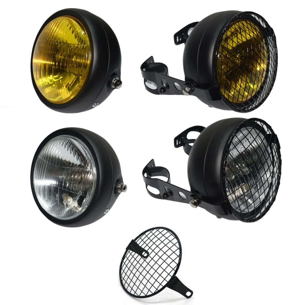 motos accessories 6 4 headlight motorcycle grill vintage. Black Bedroom Furniture Sets. Home Design Ideas