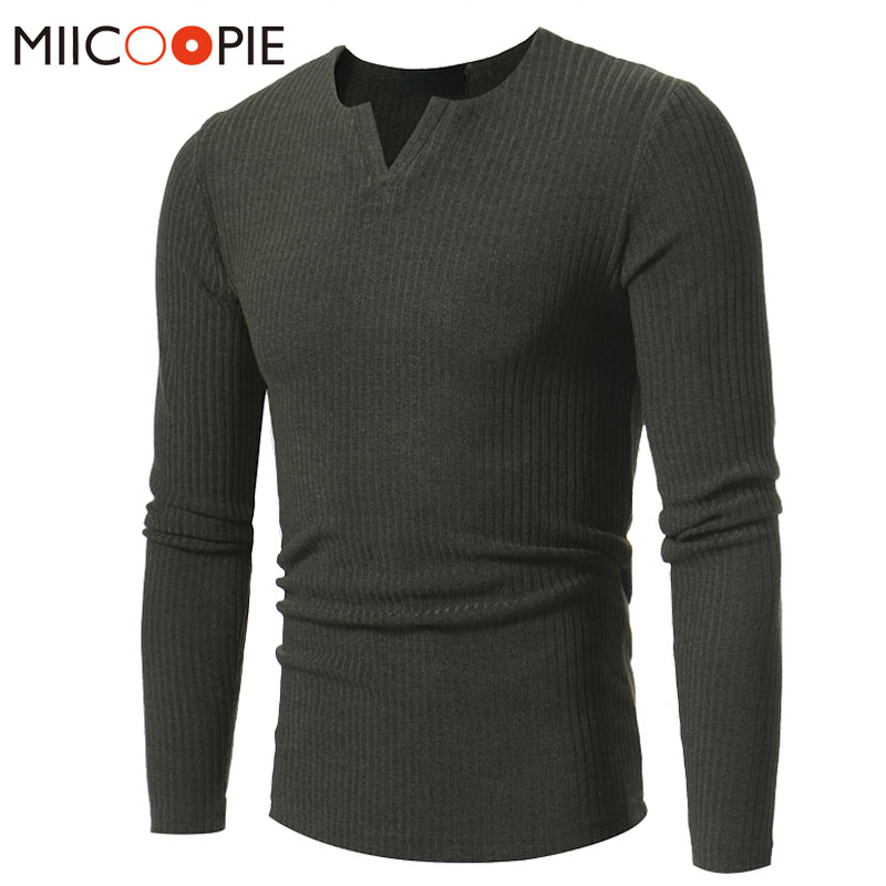 Sweater Pullover Men 2018 V-Neck Stripes Stretch Sweater Male Casual Slim Fit Casual Brand Pullover Sweaters Knitting XXXL