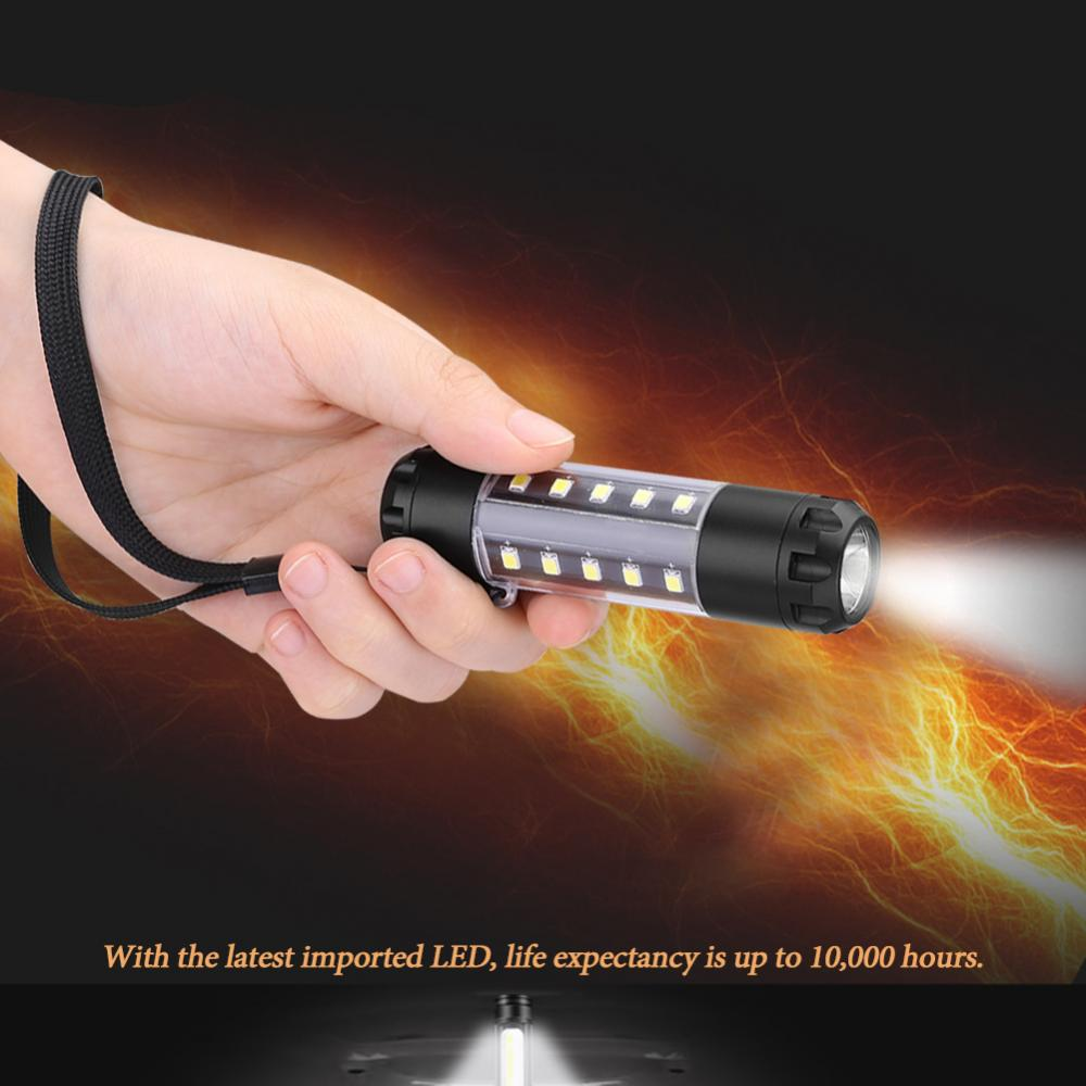 COB LED Work Light Camping LED Flashlight Emergency Flashlight Lamp with Hanging Hook linternas led recargable de alta potencia
