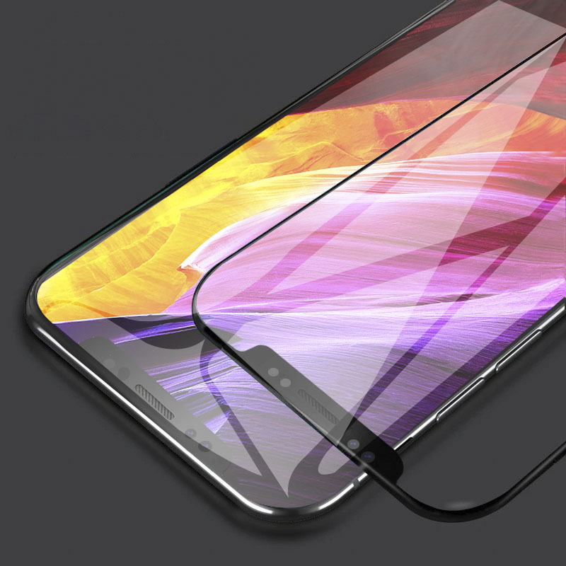 2Pcs 9H Tempered Glass For Xiaomi Pocophone F1 Case Full Cover Glass Mobile Phone Accessories Screen Protector Film For Poco F1