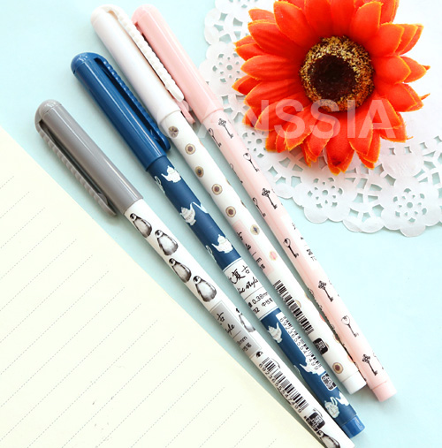 Vintage design 0.38mm gel pen Creative stationery pens Office stylo canetas material School kids supplies (ss-1217)
