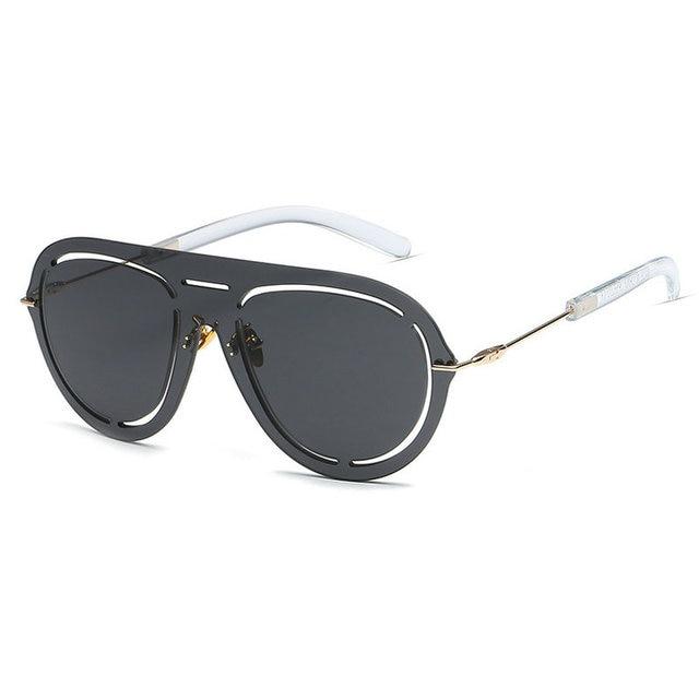 62d5fb28de MINCL Fashion Oversized Rimless Sunglasses Women Men Fashion Brand Designer One  Piece Lens Mirror Sun
