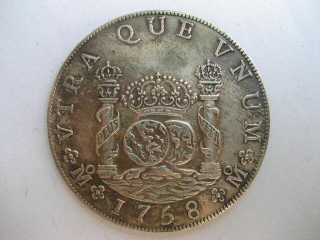 1758 Mexiko Mm 8 Reales Münze Kopie In 1758 Mexiko Mm 8 Reales Münze