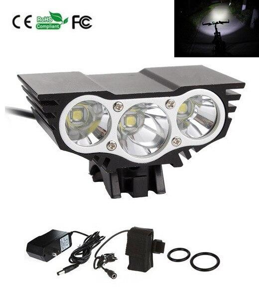 7500Lm 3 xCREE XML T6 LED Ön Bisiklet Lambası Bisiklet Işık Far + 4×18650 pil + Şarj