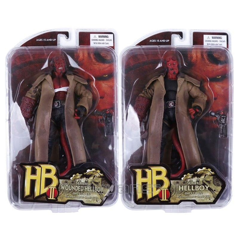 MEZCO Hellboy PVC Action Figure Collectible Model Toy 2 Styles 7 18cm fallout vault boy bobble head pvc action figure collectible model toy 7 styles kt1777