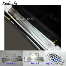 High quality Car Stainless Steel Door Cover Styling Stick externa outside Threshold Pedal for Kia Sportage KX5 2016 2017 2018 high quality door sill step scuff plate external threshold for kia sportage kx5 2016 2017 stainless steel car body cover pedal